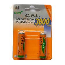Lot de 2 x Piles AA R06 rechargeable 3800mAh NI-MH batteries -Pas Cher-