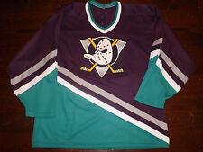 Vintage 1990's ANAHEIM MIGHTY DUCKS Hockey Jersey Men Large Dark CCM MASKA retro