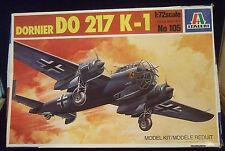 NEW 1:72 ITALERI DORNIER DO 217 K-1 AIRPLANE AIRCRAFT PLANE MODEL KIT #105