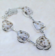 "Handmade Mother of Pearl Sea Shell Pure 925 Sterling Silver Necklace 19"" #AA1107"