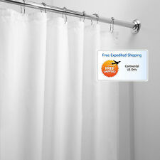 White Bathroom Shower Curtain 72 x 72 Mold Mildew Free Water Repellent Soft New