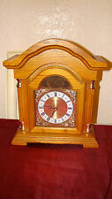 Daniel Dakota Oak Quartz Mantel Clock With Chime