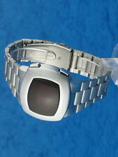 Rare old style modern futuristic 70s seventies space age mens led l.e.d watch 10