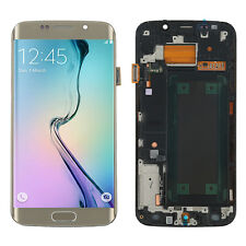 For Samsung Galaxy S6 Edge SM-G925F Gold LCD Touch Screen Glass Digitizer &Frame