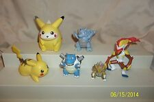 Pokemon Figure Lot of 6 Sandslash Infernape Rhydon Talking Pikachu Blastoise