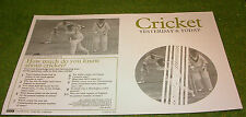 VINTAGE ACTION MAN 40th MANUAL LEAFLET CRICKETER