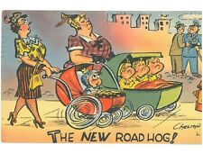 B82416 Comic PPC The new Road Hog signed Chelmon perfect shape front/back image