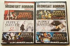 PUPPET MASTER {NEW} 1-6 COLLECTION OF 6 MOVIES 2 SETS MIDNIGHT HORROR  SERIES