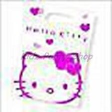 Hello Kitty Party - 6 Loot Bags -  Pink & White Birthday - FREE POSTAGE IN UK