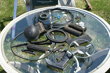 Old Vintage Lot Mostly Rubber Items Things Mix Junk Handle Wire Ball Parts Garag
