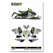 2010-2013 ARCTIC CAT SNOPRO 500  GRAPHIC KIT IMPACT STYLE  BY ENJOY MFG