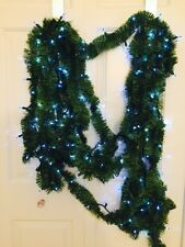 45 Ft Pine Pre Lit Lighted 200 Blue Philips Lights Soft Rope Christmas Garland