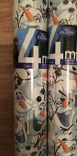 NEW! Disney Frozen 4m Gift Wrap Roll Olaf  Wrapping Paper