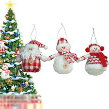 3PCS Santa Claus Snowman Pendant Hanging Pendant Christmas Tree Decor Gift CHEAP