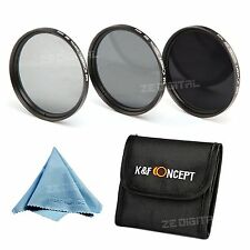 Neutral Density 52mm ND2 ND4 ND8 Filter Kit For Nikon Canon Camera Lens + Cloth