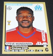 N°218 STEVE MANDANDA OLYMPIQUE MARSEILLE OM PANINI FOOTBALL FOOT 2015-2016