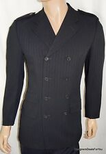 38R GUCCI Mens 38 R Black 8x4 DB Blazer Sport Coat Double Breasted  Suit Jacket