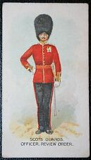 Scots Guards   Officer 1912    British Army  Original Vintage Card