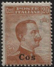 Colonie - Egeo COO - 1921/22 - cent.20 Michetti - n.11 - nuovo - MNH
