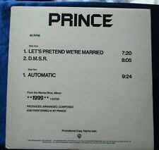"""Prince Let's Pretend We're Married, DMSR Automatic US DJ promo 12"""" 45rpm white"""