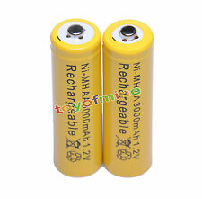 2pcs x AA 3000mAh rechargeable battery cell phone