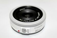 Brand New Canon EF 40mm f/2.8 STM Pancake Lens (White) Winter Sale