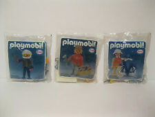 Vintage 1985 Brand New Sealed Playmobil Esso Station Figure Lot of 3