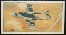 De Havilland  Venom NF2   Royal Air Force  Night Fighter    Vintage Card