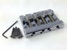 Genuine Fender Block Logo High Mass Bass Bridge w/Brass Saddles 099-4408-000