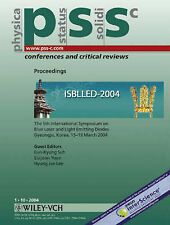 The 5th International Symposium on Blue Laser and Light Emitting Diodes: PSS C v