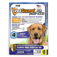 Vet guard Plus For Dogs (XLarge Dogs Over 66lbs) 4 Month Flea Treatment