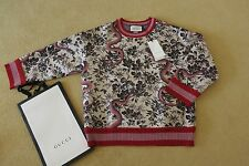 NEW £800 Gucci cream/black/pink /red  sweatshirt/ jumper/ top   L