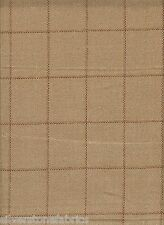 12.125 yd Holland & Sherry Upholstery Fabric Scottish Wool Tweed Plaid Wheat GI8