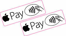 2 x Apple Pay Contactless Pay Vinyl Stickers 135mm x 45mm Taxi Shop Business