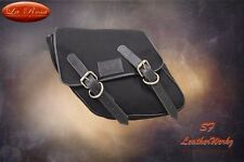 LaRosa 96-UP HD DYNA Wide Glide FXR Left Side Saddle Bag Black Canvas