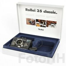 """ROLLEI 35 """"BLACK MAGIC"""" IN SILVER WITH BLACK CARBON AND SERIALNUMBER PROTOTYP"""