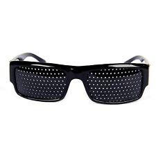 Lunettes à trous sténopé grille améliorer vue exercices yeux noir