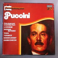 2 LP Box mit Einleger - Puccini Favourite Composers - Boheme Butterfly Tosca ua