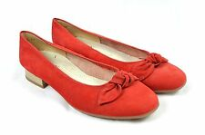 New, unworn JENNY BY ARA Red suede bow court heels 6.5