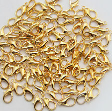 fashion 100pcs gold Plated Lobster clasp  12mm
