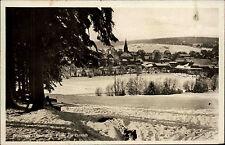 BRAUNLAGE Harz AK 1932 Dt. Reich Partie am Eis-Teich gelaufen nach Eisleben