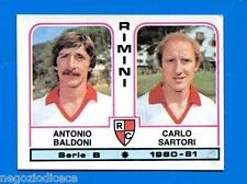 CALCIATORI PANINI 1980-81 - Figurina-Sticker n. 481 -BALDONI-SARTORI RIMINI-New