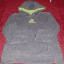 "YOUTH ""Adidas"" Hoodie Pullover Thumb Holes SPECKLE GRAY - Sz YSmall - REDUCED"