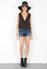 CITIZENS OF HUMANITY DRAMA AVA DENIM SHORTS W27 UK 8/10
