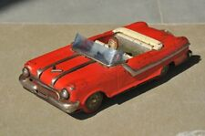 Vintage Red Open Pontiac Convertible Sports Car Litho Tin Toy ,Japan