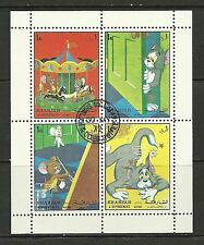 Sharjah - #38 - Disney - Tom and Jerry - Cartoons Sheet - Cpl - Used