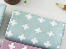Mint cross 100% Cotton Remnant  fabric 110cm x 22.5cm Quilting fabric off cut