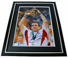 Martin Johnson Signed FRAMED Huge Photo Autograph Display Rugby PROOF & COA