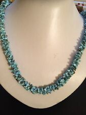 287.83CT. CHARMING NATURAL BLUE TURQUOISE ROUGH BEAD NECKLACE 27inches.