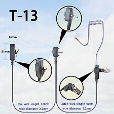 2-wire Headset Earpiece mic For Vertex Standard VX230 VX231 VX298 Portable Radio